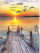 Tuankay Sea Sunset - Quadro 5D fai da te per