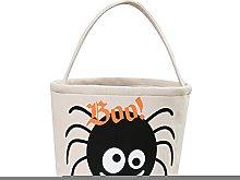TUANTUAN 1 pz Halloween Candy Bag Secchio Panno