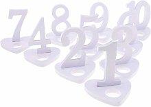 Tubayia 1-10 Numero da tavolo in legno con