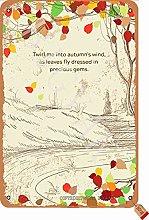 Twirl Me Into Autumn'S Wind Tin 20 x 30 cm