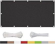 TWMHXZ Copri Ringhiera Balcone Antracite 80x430cm,