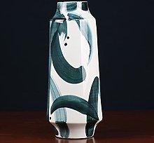 TYMBBB Vaso vintage in porcellana blu e bianca