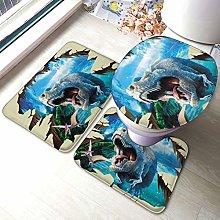 Tyrannosaurus - Set di 3 tappeti da bagno con
