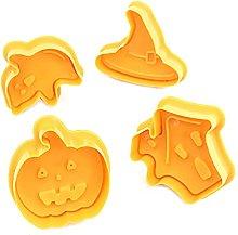 Tyrrdtrd Stampo per biscotti di Halloween,