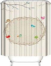 Uccelli Colorati. Dimensioni Tenda Doccia: 180X180