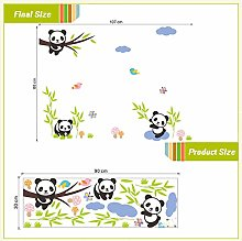 Uccelli panda adorabili adesivi murali albero di