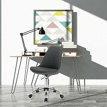 Ufficio sgabello tessuto grigio scuro regolabile