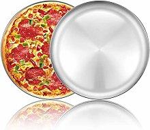 Umiten - Teglia per pizza in acciaio inox, per