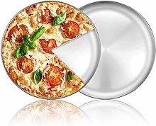 Umiten - Teglia per pizza, in acciaio inox, per