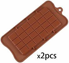 Un set di 2 cozze di cioccolato in silicone