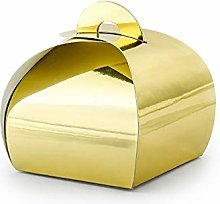 Unbekannt 10X Scatolina Carta portaconfetti Oro