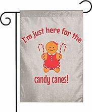 Unique Life Candy Cane Girl - Bandiera da giardino