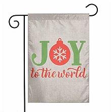 Unique Life Christmas - Bandiera da giardino