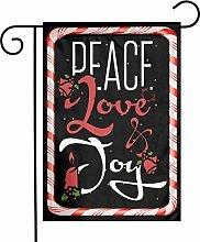 Unique Life Christmas Peace Love - Bandiera