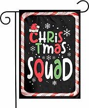 Unique Life Christmas Squad - Bandiera da giardino