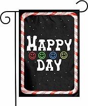 Unique Life Happy Day - Bandiera da giardino a