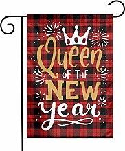Unique Life New Year Queen - Bandiera da giardino