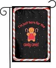 Unique Life SCandy Cane Girl - Bandiera bifacciale