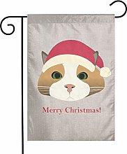Unique Life Smerry Christmas Cat - Bandiera