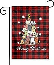 Unique Life Smerry Christmas Cats - Bandiera