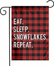 Unique Life Snowflake Repeat - Bandiera bifacciale