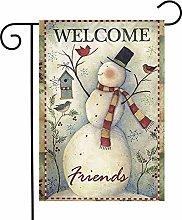 Unique Life Welcome Friends Pupazzo di neve