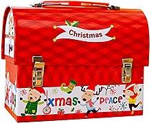 Unknows, scatola di latta natalizia per caramelle,