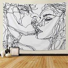 Uomo Donna Soulful Abstract Sketch Wall Arazzo