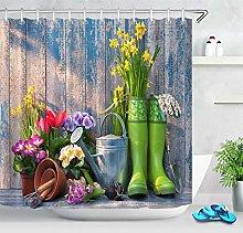 Uova di Pasqua tavola di legno fiori e piante