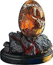 Uovo di drago in resina trasparente di cristallo