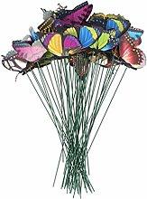 UPKOCH 50 pezzi da giardino decorazione farfalle