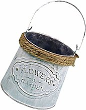 UPKOCH Vaso da Fiori in Metallo Vintage Vaso da