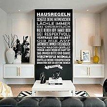 Usmnxo Adesivo Regole della casa Adesivi murali in
