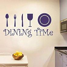 Utensili da cucina per i pasti da parete in vinile