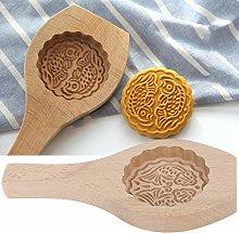 Uxsiya Mooncake biscotti in legno fondente stampo