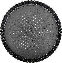 Uxsiya - Teglia per pizza, in acciaio al carbonio,