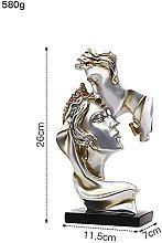 Valentine's Day Present Gold Resin Statua per