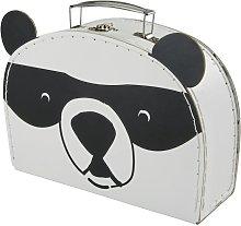 Valigetta panda in carta e cartone nera e bianca