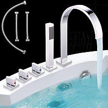 Vasca da bagno con doccia a mano a 5 fori