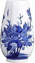 Vasi di fiori Vaso in porcellana blu e bianco