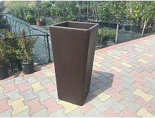 Vaso Cachepot Clou Quadrato In Plastica H 65 Cm