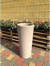 Vaso Cachepot Clou Tondo In Plastica H 85 Cm Veca