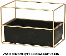 VASO CEMENTO + METALLO CM.20X13X13h