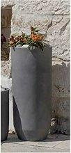 Vaso cilindro alto in resina Cilindro Ardesia