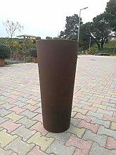 Vaso Colore Bronzo VECA CLOU Rotondo Alto H 65 CM