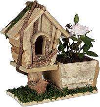 Vaso con Casa per Uccelli, Decorazione Portafiori