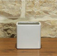 Vaso cubo per Piante e Bonsai in ceramica bianco