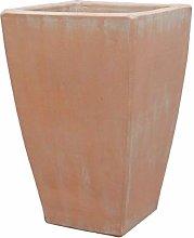 Vaso da Fiori Quadrato Grande in gres - Terracotta