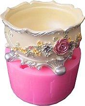 Vaso da fiori Stampo in resina siliconica Fiore