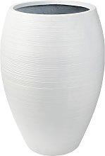 Vaso da giardino in resina bianco, h 76 cm